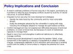policy implications and conclusion