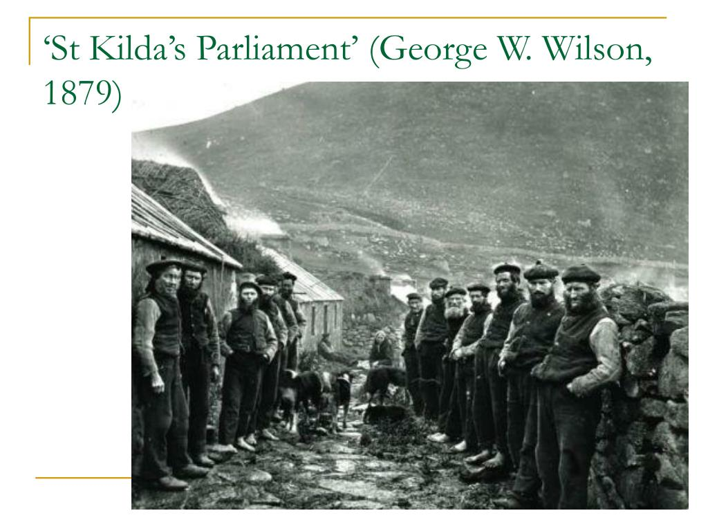 'St Kilda's Parliament' (George W. Wilson, 1879)