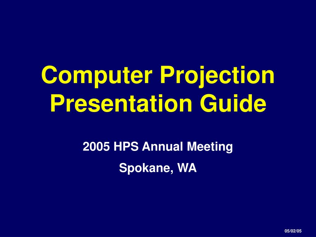 computer projection presentation guide l.