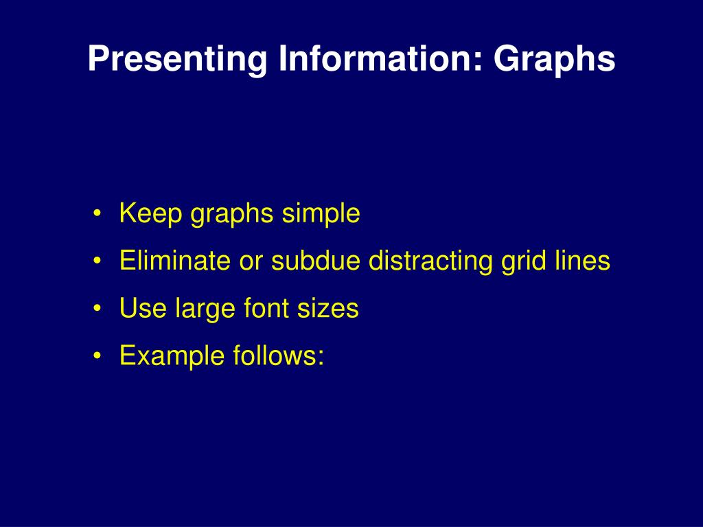Presenting Information: Graphs