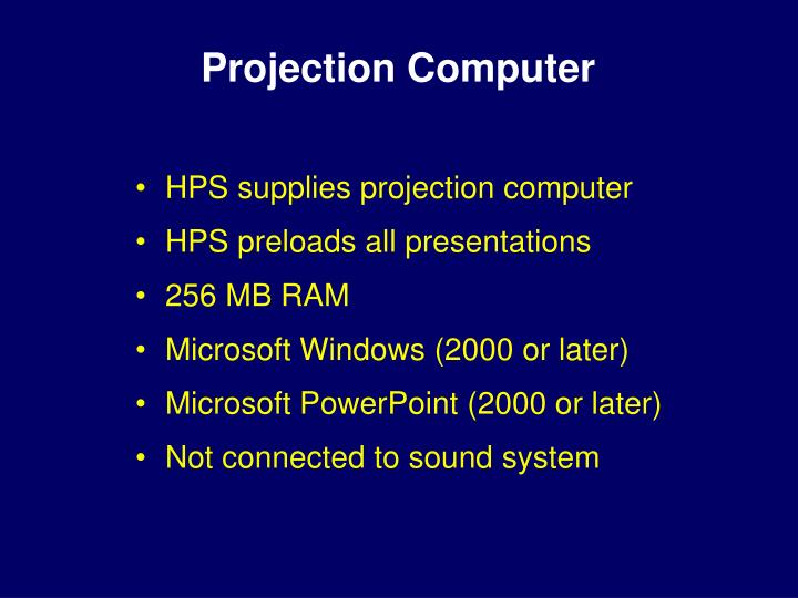 Projection computer