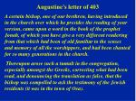 augustine s letter of 403