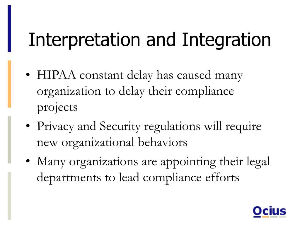 Interpretation and Integration