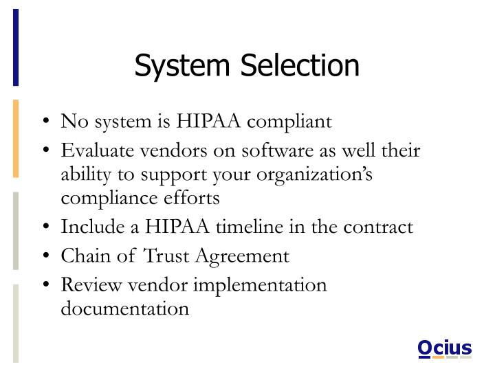 System selection