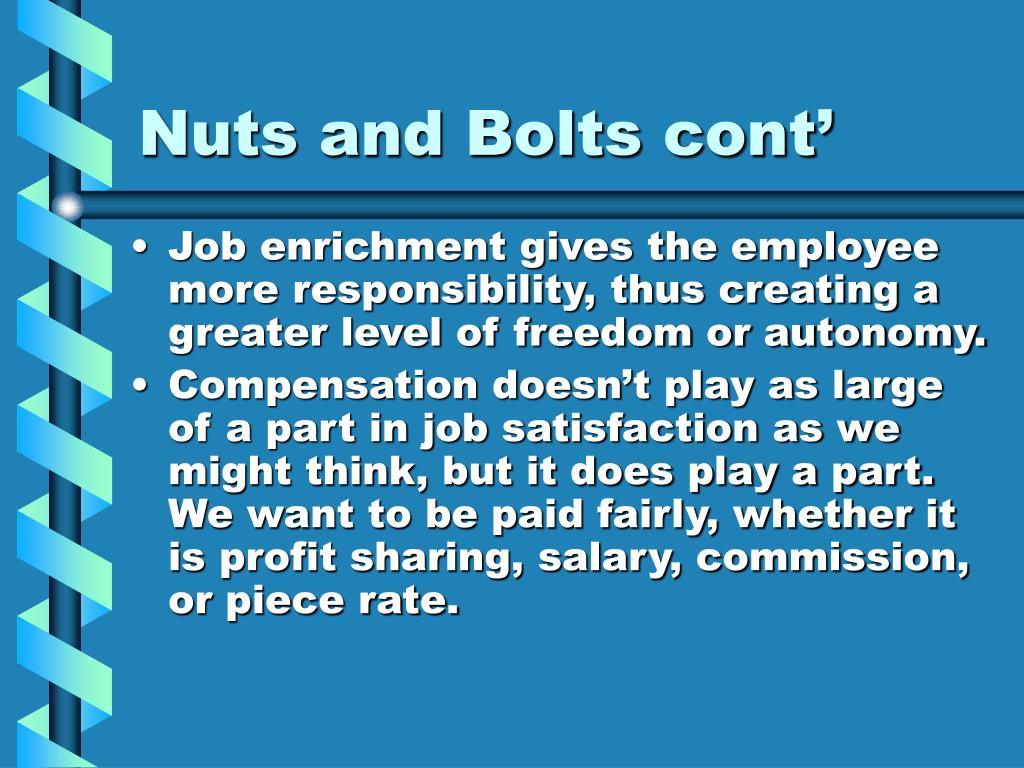 Nuts and Bolts cont'