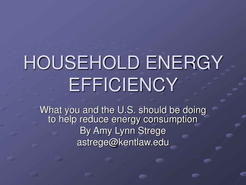 household energy efficiency l.
