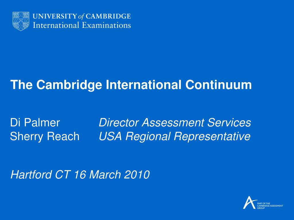 the cambridge international continuum l.