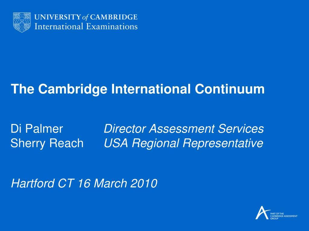 the cambridge international continuum l.