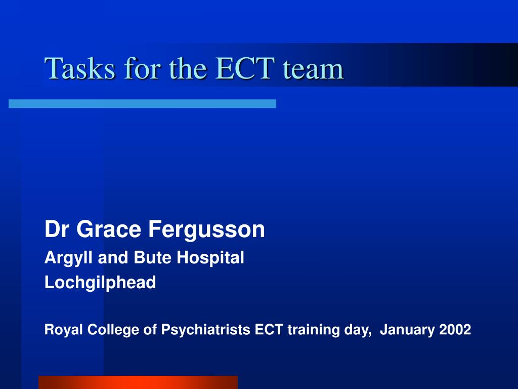 tasks for the ect team l.
