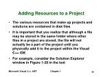 adding resources to a project