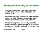 building and executing an application40
