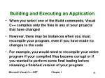 building and executing an application41