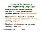 computer programming and programming languages