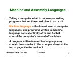 machine and assembly languages
