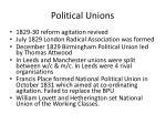 political unions