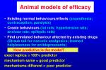 animal models of efficacy