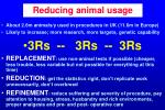 reducing animal usage