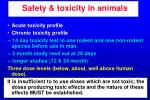 safety toxicity in animals