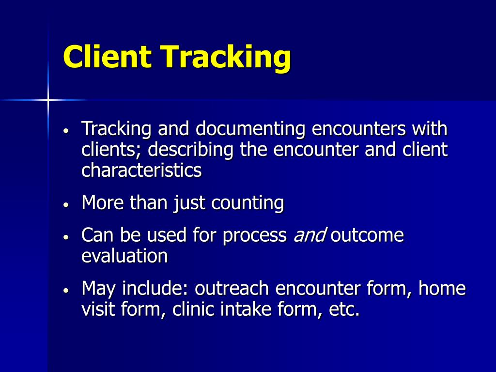 Client Tracking