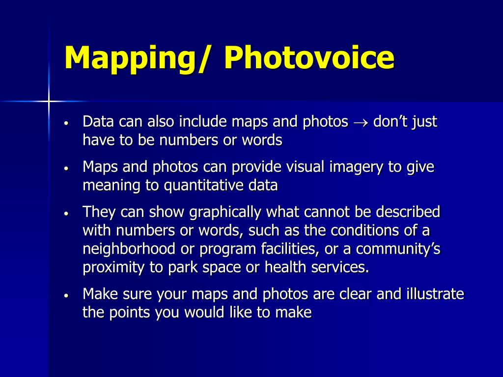 Mapping/ Photovoice