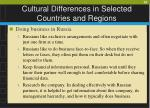 cultural differences in selected countries and regions26