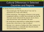 cultural differences in selected countries and regions27