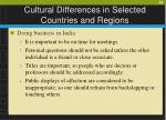 cultural differences in selected countries and regions28