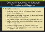 cultural differences in selected countries and regions29