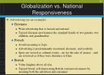 globalization vs national responsiveness