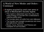 a world of new modes and orders continued14