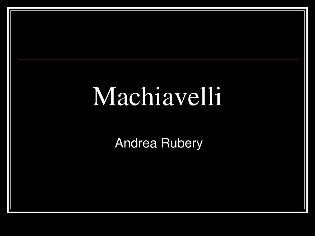 machiavelli l.