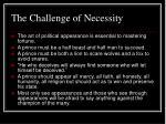 the challenge of necessity
