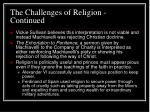 the challenges of religion continued