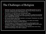 the challenges of religion