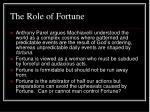 the role of fortune