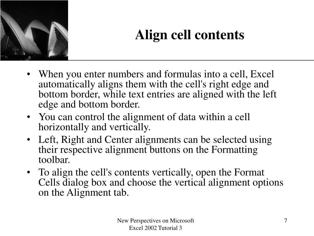 Align cell contents