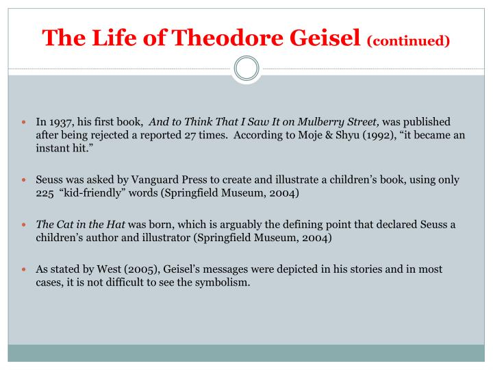The life of theodore geisel continued