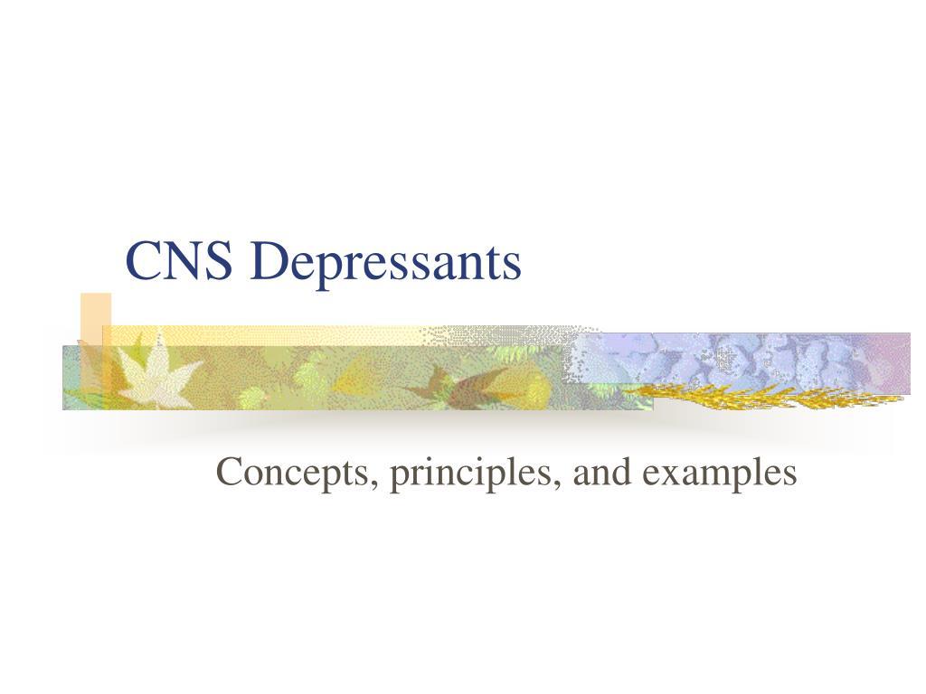 cns depressants l.