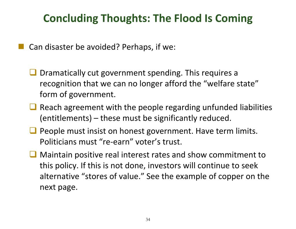 Concluding Thoughts: The Flood Is Coming