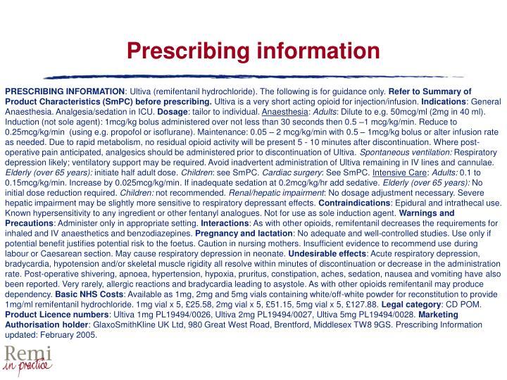Prescribing information