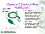 mapleson f jackson rees modification