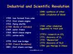 industrial and scientific revolution