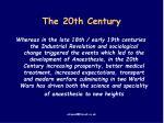 the 20th century61