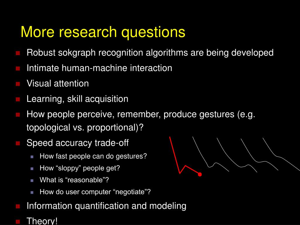 More research questions