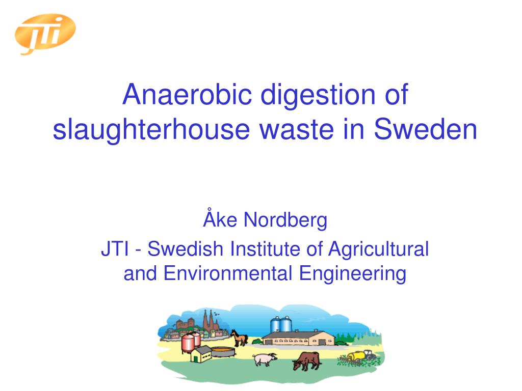 anaerobic digestion of slaughterhouse waste in sweden l.