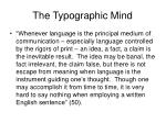 the typographic mind20