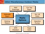 other miscellaneous outdoor media