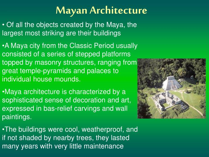 an analysis of the mayan civilization during the pre classic period classic period and its collapse (in the maya area the term terminal classic refers to the period from 800 to 925 or so various states collapse late in this epoch: monte albán, mexican-influenced kaminaljuyù, copán are either destroyed or abandoned.