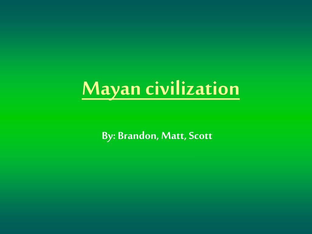 mayan civilization l.