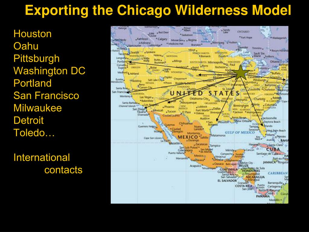 Exporting the Chicago Wilderness Model